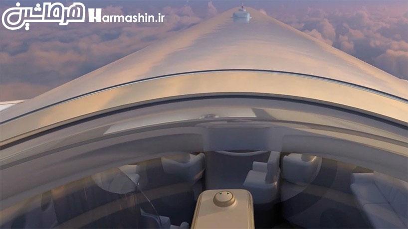 ایده قرار دادن صندلی روی سقف هواپیما
