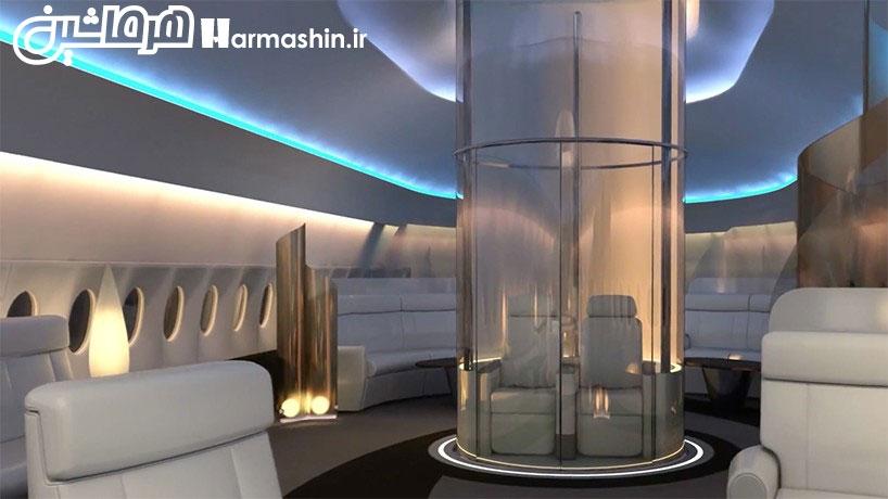 صندلی روی سقف هواپیما