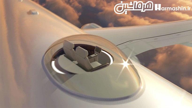 نصب صندلی روی سقف هواپیما