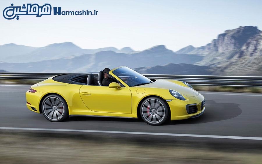 پورشه 911 کاررا مدل 2016 زرد